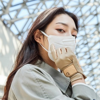 에이퓨리 코로나 바이러스 항균장갑 여성 베이지