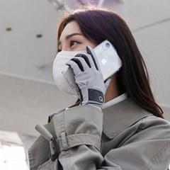 에이퓨리 코로나 바이러스 항균장갑 여성 연그레이