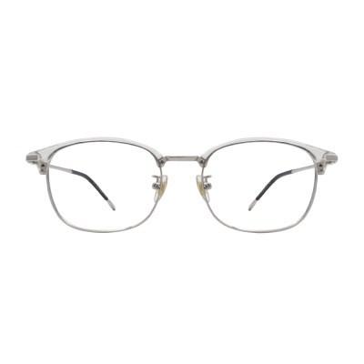 Rav CRYSTAL SILVER 투명 스퀘어 하금테 안경
