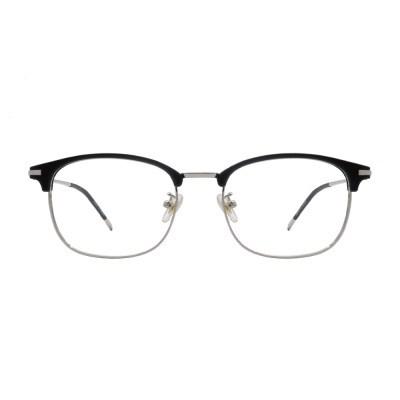 Rav BLACK SILVER 스퀘어 하금테 안경