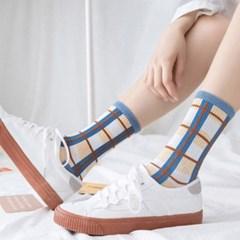 데일리 여자 양말 패션 포인트 긴양말 스타일업 패턴양말 6개 1set