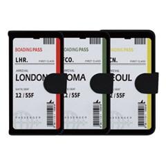 갤럭시 S9플러스 에어플레인 티켓 사피아노 케이스