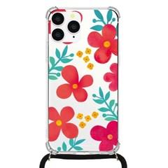 아이폰7 8플러스 여행용 플라워패턴 핸드폰줄 케이스