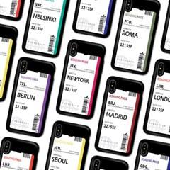 갤럭시 노트5 에어플레인 티켓 카드 범퍼 케이스