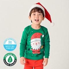 [따솜] 선물산타 오가닉 20수 후라이스 유아동 크리스마스 실내복