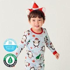 [따솜] 윈터펭귄 오가닉 20수 후라이스 유아동 크리스마스 실내복