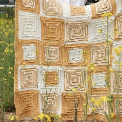 프리지아 블랭킷 - 코바늘 뜨개질 패키지