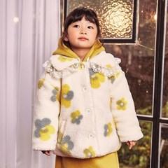 츄) 꽃덤블 아동 코트-주니어까지