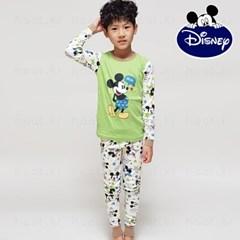 디즈니 아동 내의 실내복 (남아 미키스타 그린)