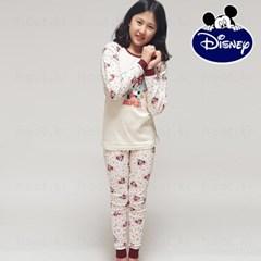 디즈니 아동 내의 실내복 (여아 미니하트 아이보리)