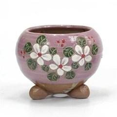 Modern 꽃무늬 미니 옹기 다육화분 3color