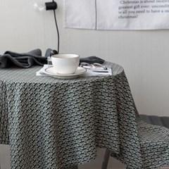 온더아멜리에그린 식탁보 테이블보 120x120cm 테이블러너