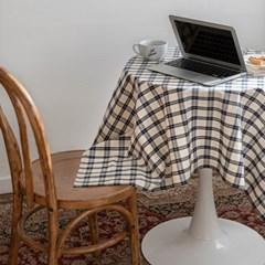 온더베를린네이비 식탁보 테이블보 120x120cm 테이블러너