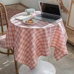 온더부다페스트핑크 식탁보 테이블보 120x120cm 테이블러너