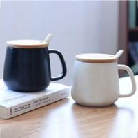 세븐프리 뚜껑있는머그컵 심플 나무손잡이 스푼있는 머그컵