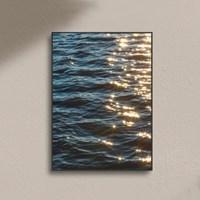 감성 바다 물결 윤슬 사진 포스터 거실 카페 인테리어 액자