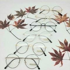 도수없는 가벼운 투명 블랙 골드 데일리 패션 안경