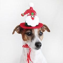 크리스마스 산타 모자 고양이 강아지 머리띠 선물  MIYOPET