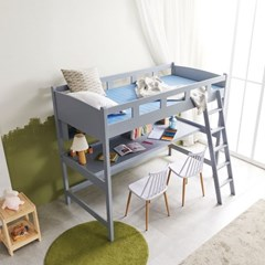 KUF 르보 원목 벙커 침대 책상형, 단면 매트 S_(2084953)