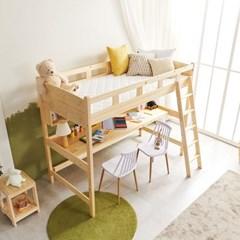 KUF 르보 원목 벙커 침대 책상형, 슬림 독립매트 S_(2084952)