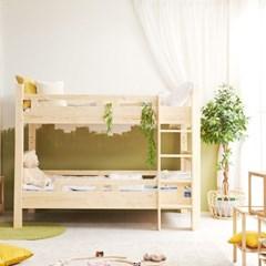 KUF 포아 원목 분리형 이층 침대, 슬림 독립매트 S_(2084949)