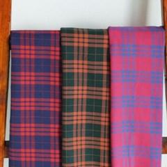 대폭 스코틀랜드 타탄 체크 3color 295,297,312