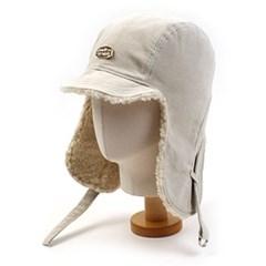 Ivory Corduroy Trooper Hat 귀달이모자