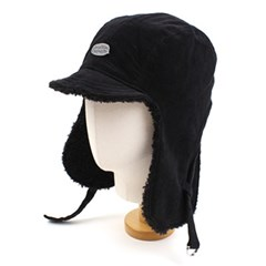 Black Corduroy Trooper Hat 귀달이모자