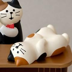 데꼴 2020 고양이 BAR 피규어 누운고양이