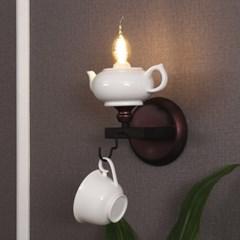 LED 티포트 벽등 브라운_(1980615)
