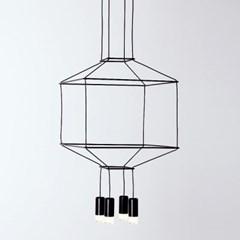 핵사 4등 2단 펜던트 식탁등 주방조명 로비조명  LED 3W_(1980042)