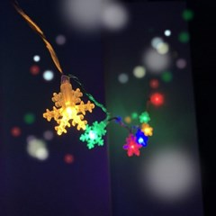 크리스마스 스노우 눈꽃 앵두 줄조명 파티 라이트 트리전구 가랜드등
