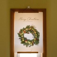 크리스마스 리스 캔버스 포스터