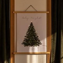 크리스마스 트리 캔버스 포스터