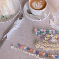 데이지 레이스 마스크목걸이 / daisy lace mask_necklace
