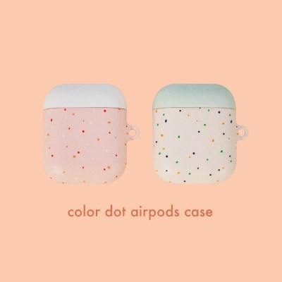 color dot airpods hard case
