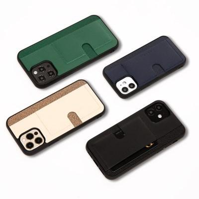 스매스 아이폰12/12 프로 천연소가죽 보호 카드포켓 케이스 푸쉬포켓