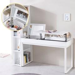 [도노코코] 주디 거울+리프트업 테이블 화장대 수납 책