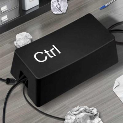 컨트롤 케이블 정리함 선정리 멀티탭 수납함 -블랙
