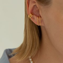 Two Lines Ear Cuff Earring (Right) (925 Silver).20