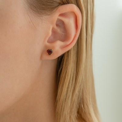 Heart Stone Earrings (14k Goldfilled,Garnet,Topaz).02