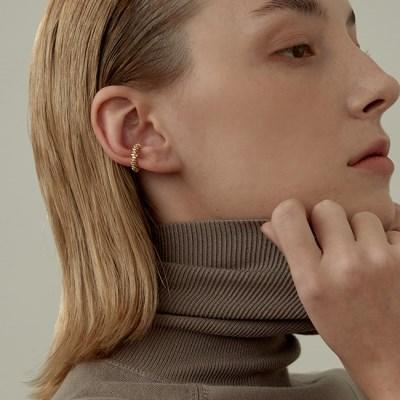 Crush Round Ear Cuff (925 Silver).26