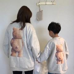 빈) 맘커플 기모곰돌이 아동 맨투맨