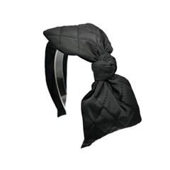 quilting ribbon hairband (black)