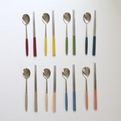 소소모소 컬러 수저 세트 4인 - 8 colors_(499593)