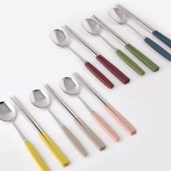 1+1 소소모소 컬러 수저 세트 - 8 colors_(499592)