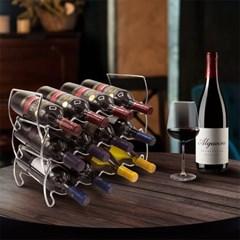 크롬 와이어 와인랙 스탠드 와인 거치대 적층식 3p 세트