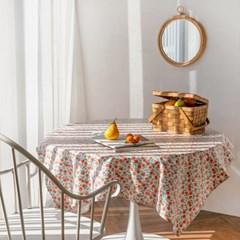 오렌지 방수 식탁 테이블보 2size