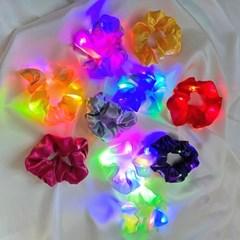 야광 LED 곱창 머리끈_(2437345)
