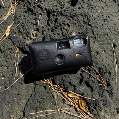 Disposable Camera leather Case_Black